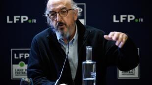 Jaume Roures, le patron du groupe audiovisuel sino-espagnol Mediapro, lors d'un point presse à Paris, le 12 décembre 2019