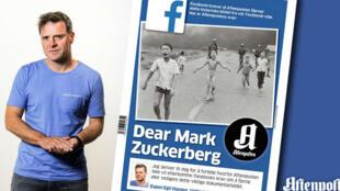 Espen Egil Hansen, rédacteur en chef de l'Aftenposten, et auteur d'un éditorial à charge contre Facebook