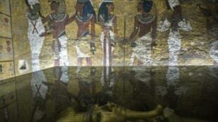 قبر توت عنخ آمون قرب الأقصر على بعد 500 كلم جنوب القاهرة، في 29 أيلول/سبتمبر 2015