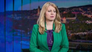 Zuzana Caputova, preparándose para uno de los debates televisivos de cara a las elecciones presidenciales en las que obtuvo el 40.5% de los votos que le permitieron pasar a la segunda vuelta prevista para el 30 de marzo. Bratislava, Eslovaquia 17/03/2019.