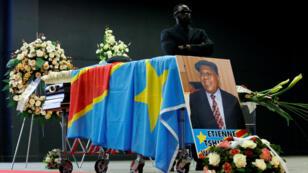 Le cercueil d'Étienne Tshisekedi à Bruxelles, le 5 février 2017.