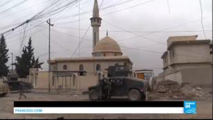Un véhicule de l'armée irakienne à Mossoul, jeudi 2 mars.