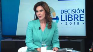 Zury Ríos Sosa durante una entrevista con el medio local Guatevisión.