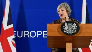 Theresa May, primera ministra británica, en la Cumbre de líderes de la Unión Europea en Bruselas, el 14 de diciembre de 2018.