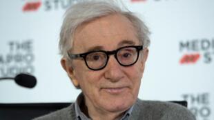Woody Allen lors d'une conférence de presse à Saint-Sébastien (Espagne), le 9 juillet 2019