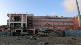 L'hôtal Sahafi dans la capitale somalienne, ici en novembre 2015, est régulièrement visé par des attaques.