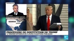 """2019-11-22 17:10 Procédure de destitution de Trump: """"Sa base électorale reste très unifiée"""""""