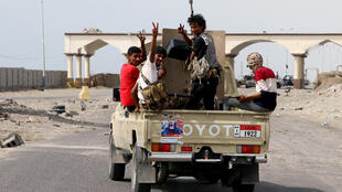 Separatists in Aden, in the south of Yemen, August 29, 2019.