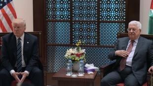Le président américain Donald Trump et le dirigeant palestinien Mahmoud Abbas, le 23 mai.