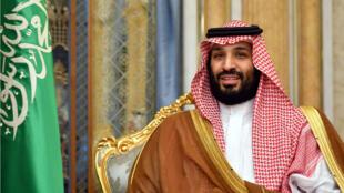 El Príncipe Heredero de Arabia Saudita, asiste a una reunión con el Secretario de Estado de EE.UU., Mike Pompeo, en Jeddah, Arabia Saudita, el 18 de septiembre de 2019.