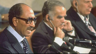 Anouar el-Sadate lors de son intervention à la Knesset.