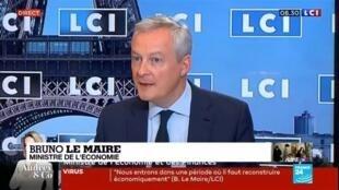 """2020-06-11 11:00 Bruno Le Maire """"souhaite que l'activité économique reprenne plus rapidement"""""""