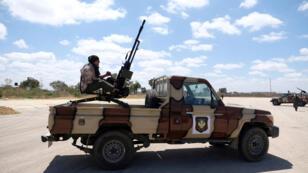 صورة أرشيفية لقوات الجيش الوطني الليبي التابعة للمشير خليفة حفتر، 7 نيسان/أبريل 2019.