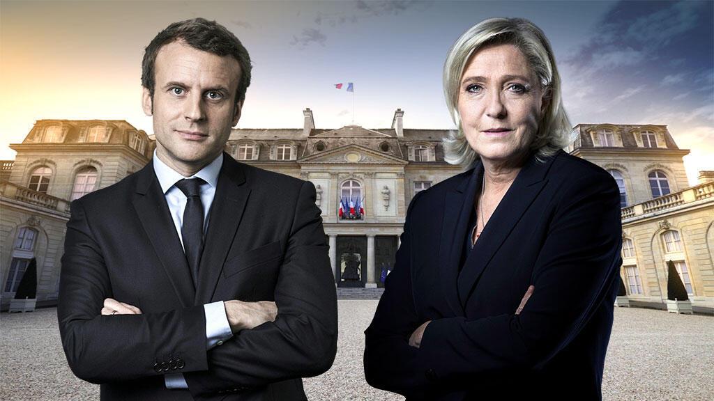 الفائزان في الدورة الأولى من الانتخابات الرئاسية الفرنسية.