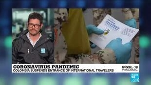 2020-03-20 02:10 Coronavirus pandemic: Colombia suspends entrance of international travelers