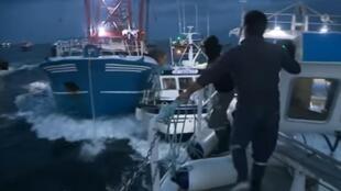 Captura de pantalla del video difundido por la televisión francesa.