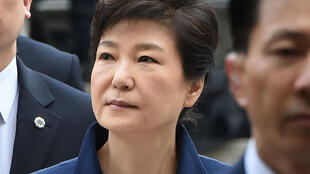 La présidente sud-coréenne Park Geun-Hye à son arrivée à la cour centrale du district de Séoul le 30 mars.