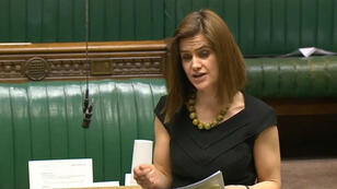PRU / AFP A video grab taken from footage broadcast by the UK parliamentary recording unit (PRU). Labour party member of parliament Jo Cox speaks during a session in the House of Commons in central London on March 21, 2016.