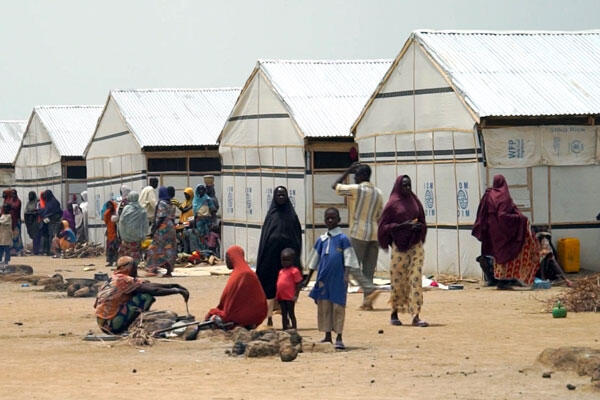Camps for internally displaced people in Pulka.