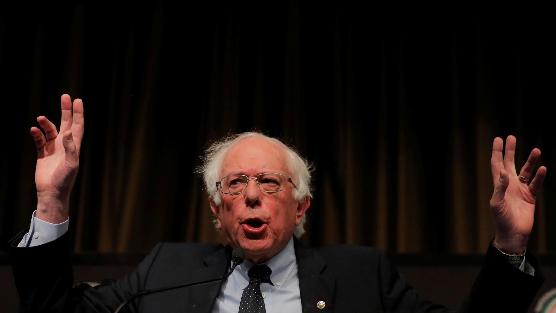 El senador Bernie Sanders durante la Convención Nacional de la Red de Acción Nacional 2019 en Nueva York, EE. UU., el 5 de abril de 2019.
