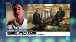 2020-09-04 22:12 Macron meets Ivory Coast President Ouattara after election U-turn