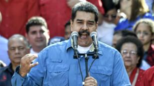 Le président vénézuélien Nicolas Maduro, mardi 23 janvier 2018, à Caracas.