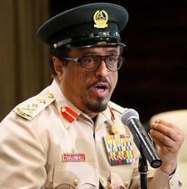 Dhahi Khalfane, le chef de la police de Dubaï (AFP).