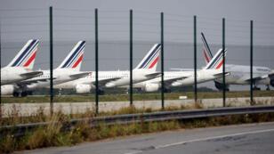 Les pistes de l'aéroport de Roissy-Charles de Gaulle, au nord de Paris.