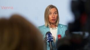 Federica Mogherini, la cheffe de la diplomatie européenne, à Vienne en Autriche le 30 août 2018