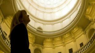 Wendy Davis au Capitole d'Austin, au Texas.