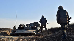 Des soldats ukrainiens dans la région de Donetsk, le 11 mars 2015.