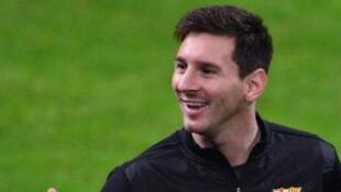 Le Barcelonais Lionel Messi.