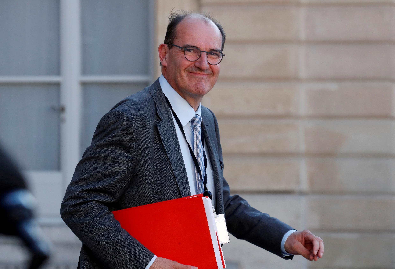 Jean Castex, encargado de desarrollar la estrategia francesa para la desescalada de las medidas de confinamiento ordenadas ante la propagación del brote de Covid-19, el 19 de mayo de 2020 en el Palacio del Elíseo.