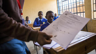 School's out: Primary and secondary pupils in Kenya have been told to return to class in January because of coronavirus