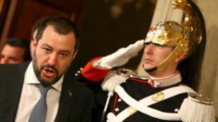 Matteo Salvini, líder del partido Liga Norte espera presentar este lunes el nombre del nuevo primer ministro. Mayo 20 de 2018.