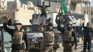 عناصر من الوحدات الخاصة العراقية في الأنبار في 29 كانون الأول/ديسمبر 2015