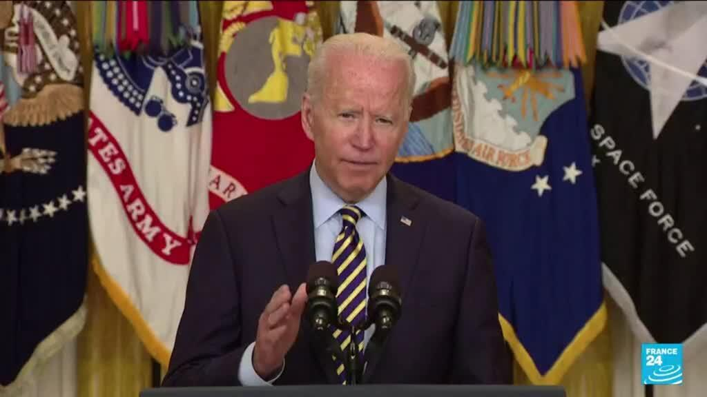 2021-07-09 10:05 Biden says Afghans must decide own future; US to leave on Aug. 31