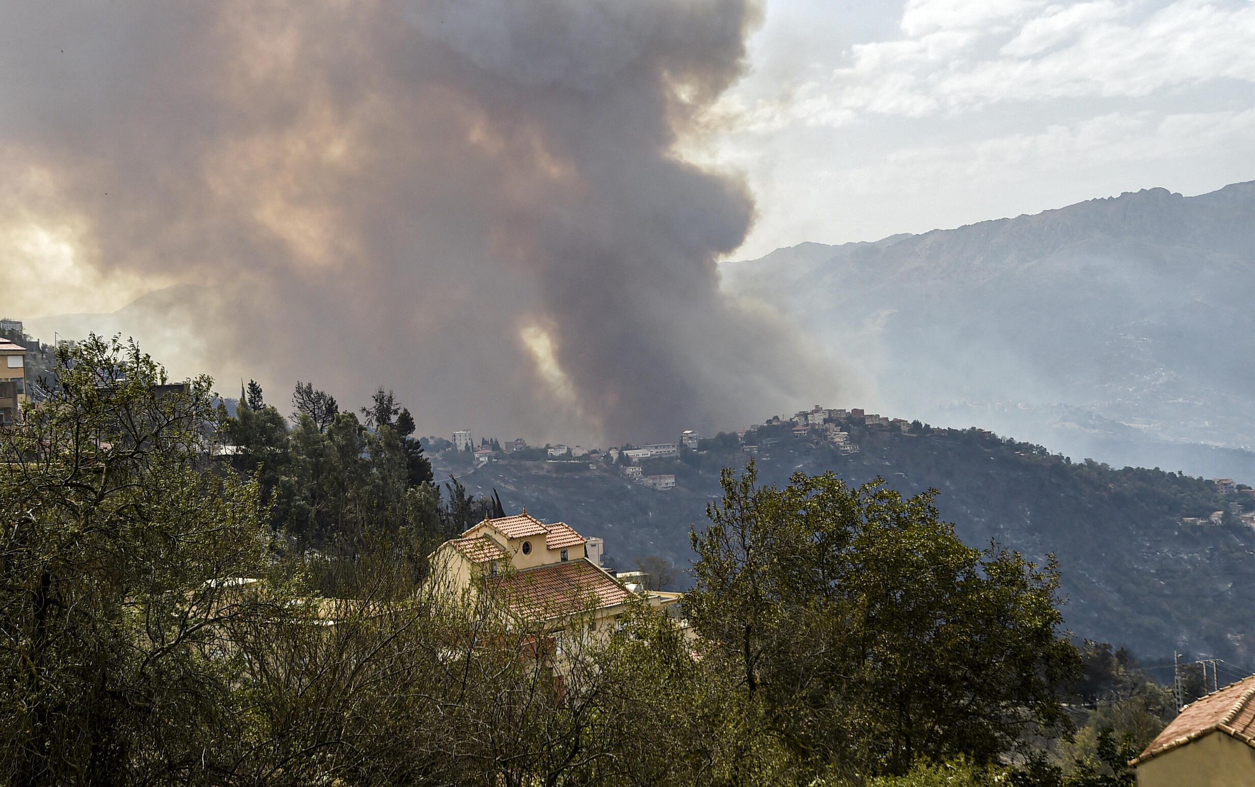 Algeria fire Kabylie