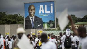 Affiche de campagne du président gabonais sortant Ali Bongo.