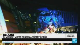 L'accident a eu lieu mercredi 17 février dans la soirée sur une route entre Accra la capitale et Tamale, au nord du pays.