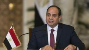 الرئيس المصري عبد الفتاح السيسي في مؤتمر صحافي في القاهرة في 11 كانون الأول/ديسمبر 2018