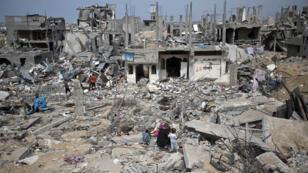 A neighbourhood of Gaza on October 11