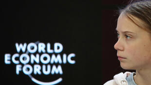 Swedish climate change activist Greta Thunberg attends a session at the 50th World Economic Forum (WEF) annual meeting in Davos, Switzerland, January 21, 2020.