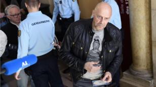 L'essayiste d'extrême droite Alain Soral au tribunal correctionnel de Paris le 12 avril.
