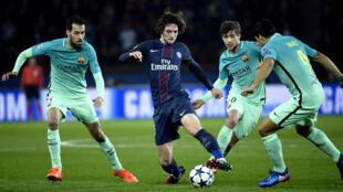 Adrien Rabiot a humilié à lui tout seul les milieux de terrain du FC Barcelone.