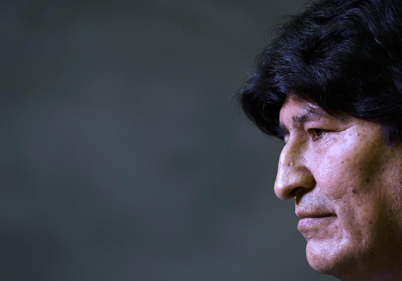 Esta imagen de archivo muestra al expresidente de Bolivia Evo Morales durante una conferencia de prensa en Buenos Aires, el 21 de febrero de 2020.