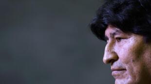 Esta imagen de archivo muestra al expresidente de Bolivia Evo Morales durante una conferencia de prensa en Buenos Aires, el 21 de febrero de 2020