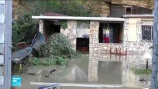 منزل بمنطقة باليرمو في صقلية غمرته مياه الفيضان.