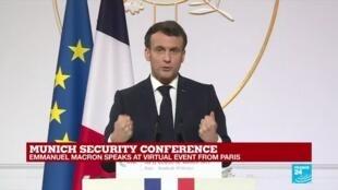 2021-02-19 17:51 REPLAY: 'NATO needs a new political momentum', Macron says in Munich speech