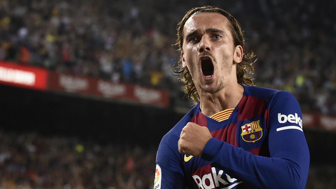 Antoine Griezmann a inscrit un doublé avec Barcelone.